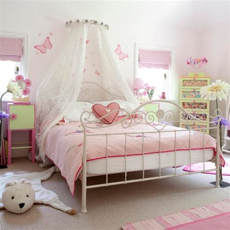 pink girls bedroom country farm lodge house
