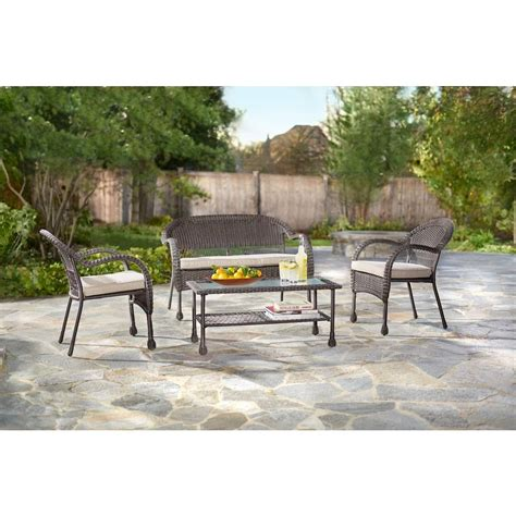 hton bay pleasantburg 4 all weather wicker patio