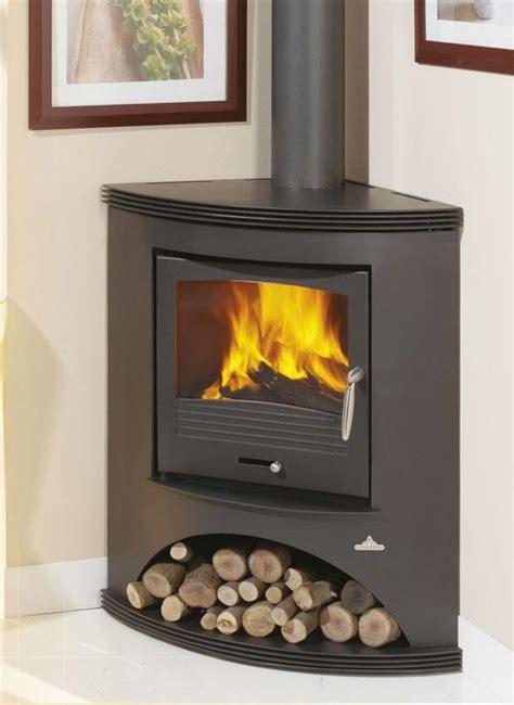 corner wood stove ideas  pinterest wood