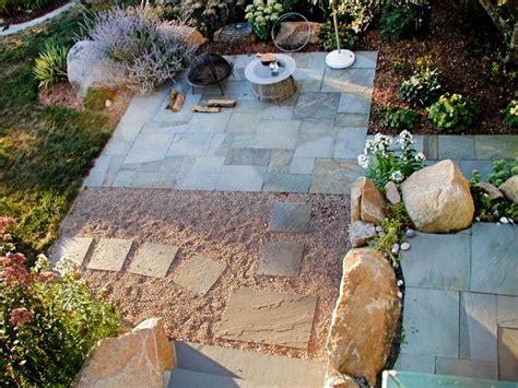 garden  stone patio  simple walkway hgtv