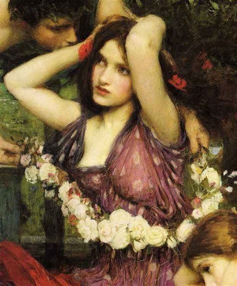 by john william waterhouse pre raphaelite art john william waterhouse flora and