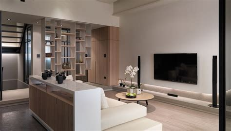 modern livingroom design multi level contemporary apartment