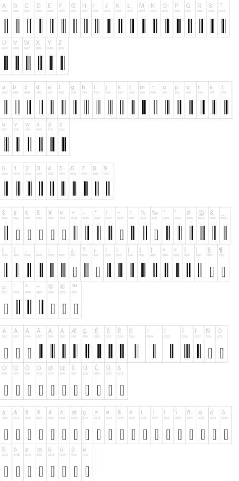 barcode tattoo font generator code 128 dafont com
