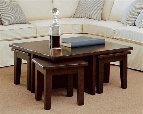 Table With Stools by Coffee Table With 4 Stools Coffee Table Design Ideas