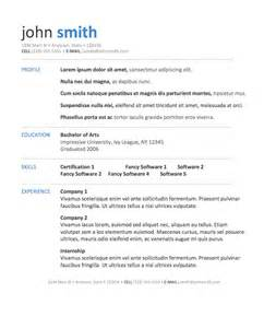 Resume Template For It by Resume Exles Free Resume Templates For Microsoft Word