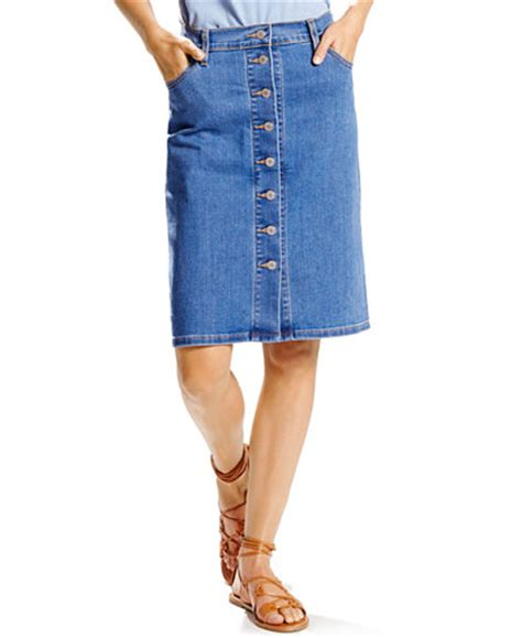 levi s 174 button front denim skirt skirts macy s