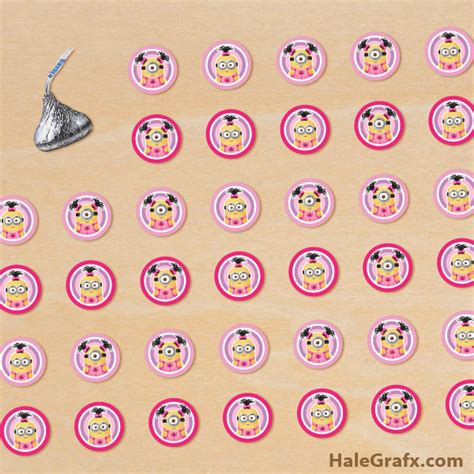 printable girl stickers free printable girl minion hershey s kisses stickers