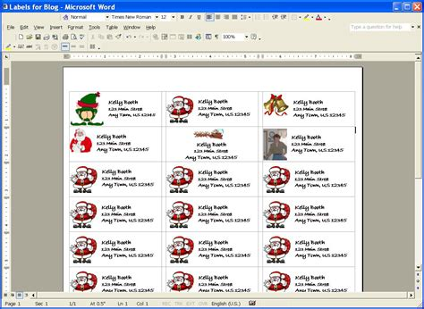 how to make printable address labels in word christmas address label clip art 77