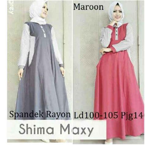 Gamis Syari Remaja Modern baju gamis remaja b052 shima maxi busana muslim modern