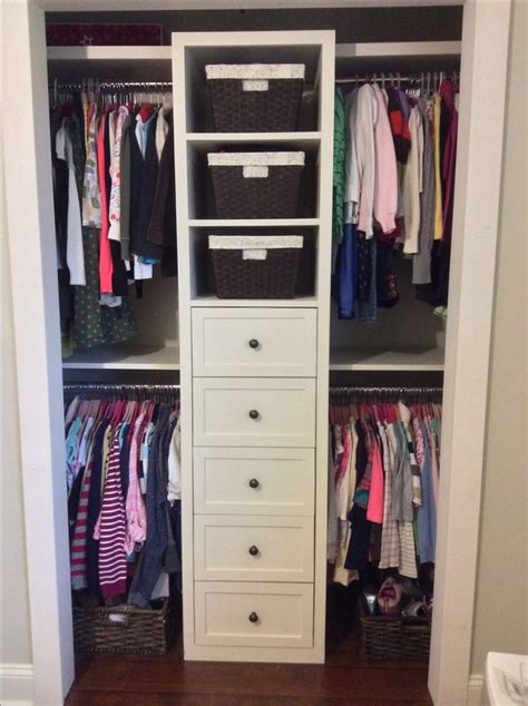 organizing small closet small shared girls closet built in redo ideas for the