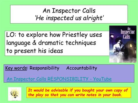 themes presented in an inspector calls ppt an inspector calls he inspected us alright