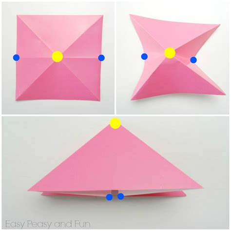 Simple Paper Folding For Kindergarten - easy origami fish origami for easy peasy and
