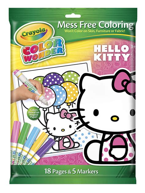 crayola coloring pages hello kitty amazon com crayola color wonder hello kitty 18 page