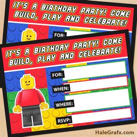 Free Printable Lego Building Blocks Birthday Invitation Kids Parties Shared Board Lego Birthday Invitation Template