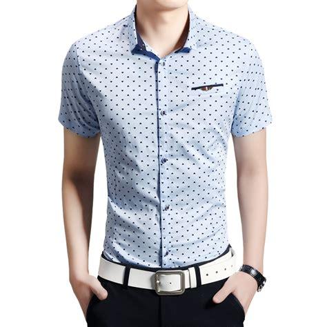 pattern business shirt 2014 new brand mens dress shirts short sleeve design fake