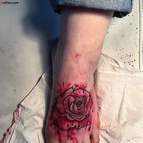 rose tattoo on foot designs 50 most beautiful aqua flower tattoos best flower