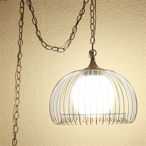 42 Hanging Ls With Chain Ls Red Stained Glass Diy Hanging Pendant Light