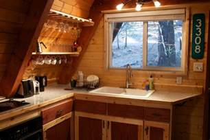 A Frame Kitchen Ideas Tiny Cabin In California Camouflaged In The Woods