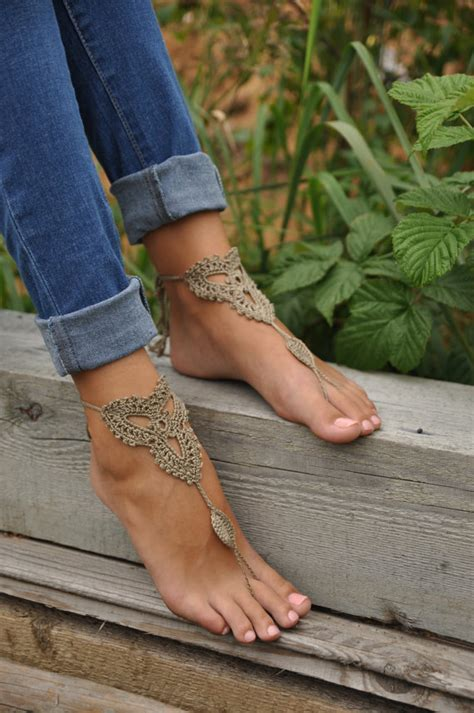 Must Colors For Summers Bare Toes by Crochet Barefoot Sandals Shoes Foot Jewelry
