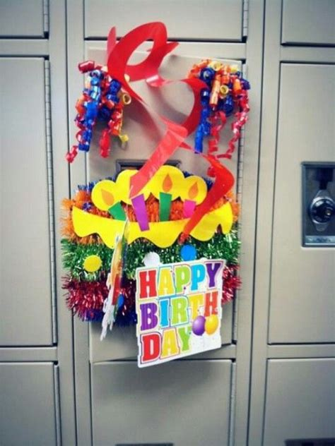 school locker decorations birthday on sons high school locker