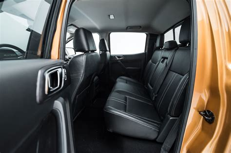 ford ranger interior 2019 ford ranger interior rear seat from side motor trend