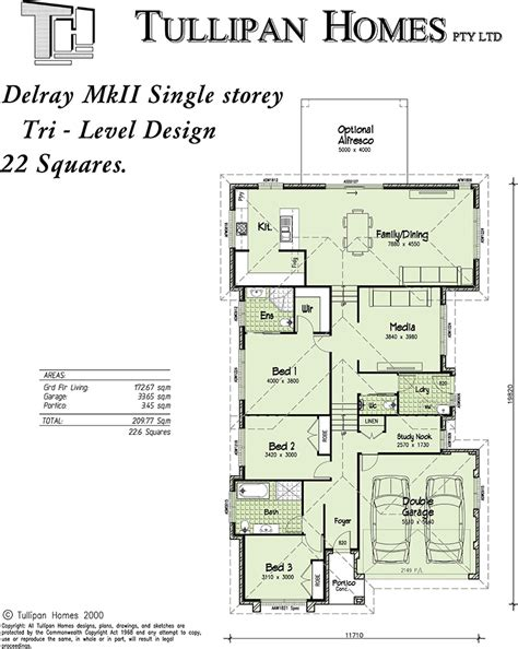 delray mkii tri level upslope design home design tullipan homes