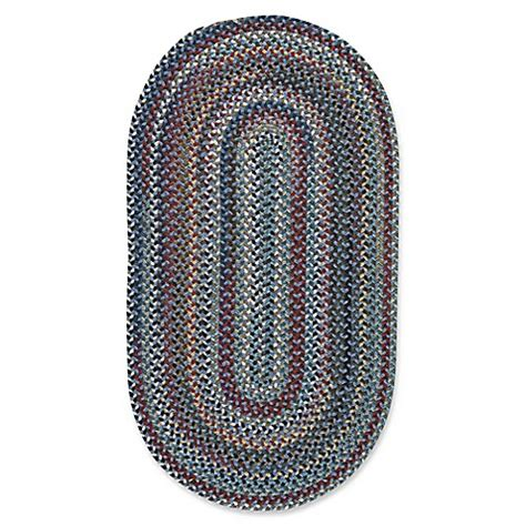8 foot braided rugs buy capel rugs bunker hill braided 8 foot x 11 foot oval area rug in medium blue from bed bath