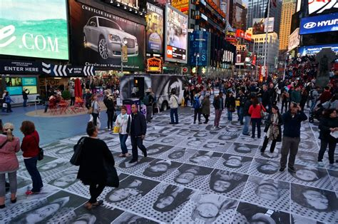 Kaos Inside Out 05 Square streets jr inside out nyc time square 171 arrested