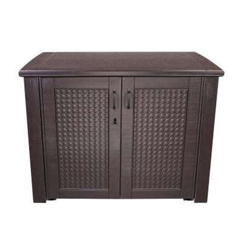 Deck Storage Cabinet Rubbermaid Deck Boxes Sheds Garages Outdoor Storage The Home Depot