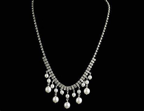 Kette Braut by Braut Kette Halskette Aus Perlen Und Strass Zum Brautkleid