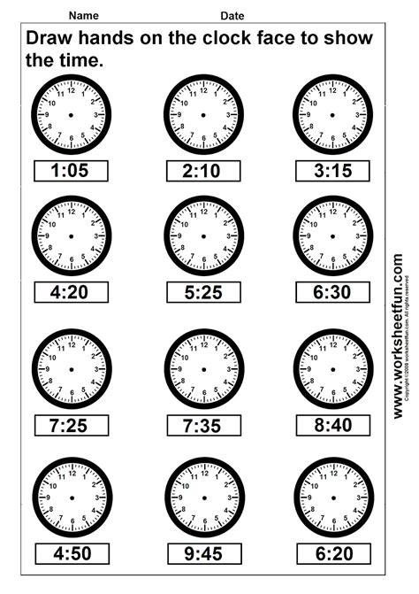 printable telling time sheets free clock telling time worksheet printable worksheetfun