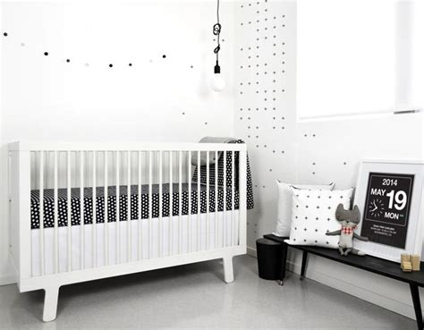 Black Modern Crib by Olli Lime Modern Crib Bedding Modern Black White