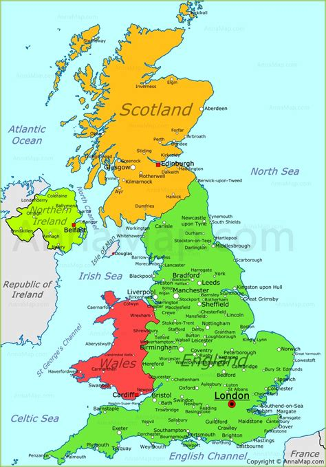 uk map united kingdom map uk political map annamap