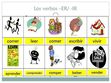 correr comer vivir 8499982441 los verbos er ir definiciones los verbos er ir conjugaciones ppt video online descargar
