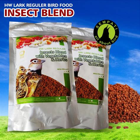 Pakan Anakan Branjangan insect blend with vegetable herbs reguler hw pakan