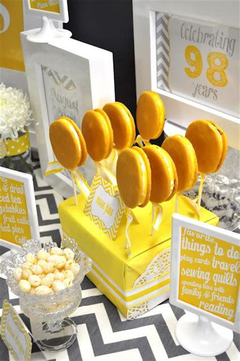 A Th  Ee  Birthday Ee   Party Gorgeous Yellow And Grey Themed