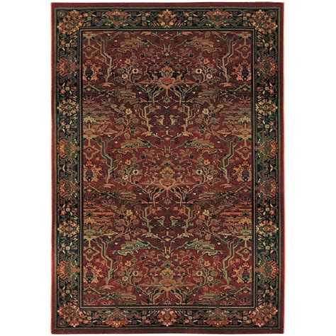 peace area rug home decorators collection peace brick 5 ft 3 in x 7 ft 6 in area rug 2028930130 the home