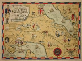 Colonial Virginia Map by George Glazer Gallery Antique Maps Jamestown
