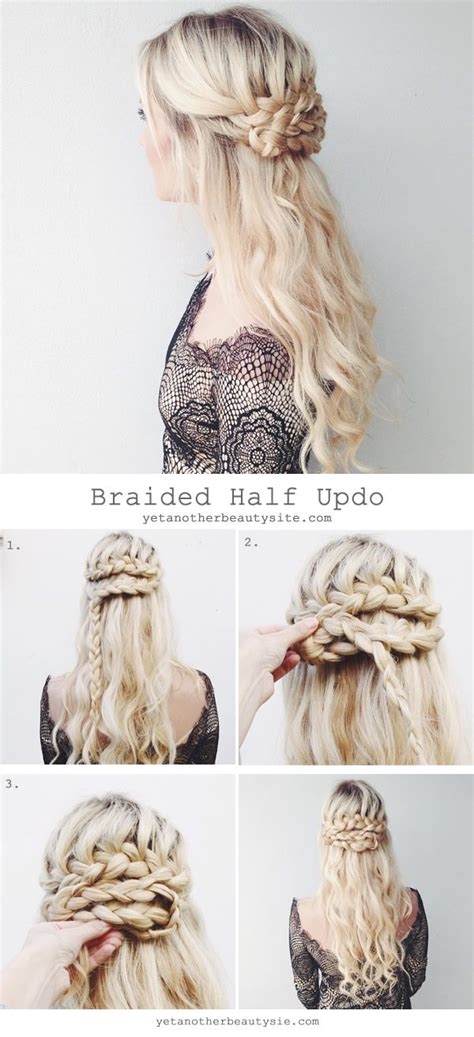 homecoming hairstyles tutorials super easy diy braided hairstyles for wedding tutorials