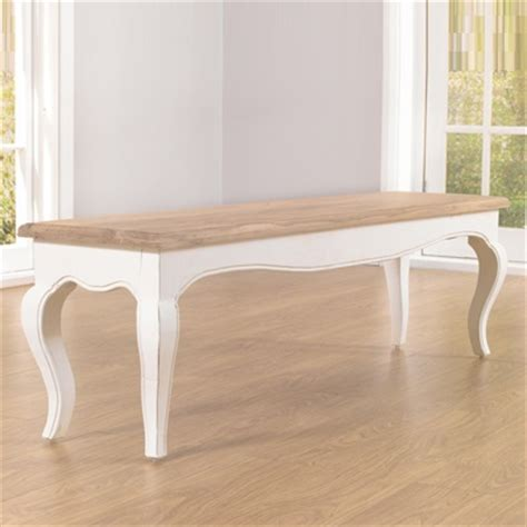 Ivory Painted Dining Table Seville Ivory Painted Distressed Dining Table With 2 Benches Robson Furniture