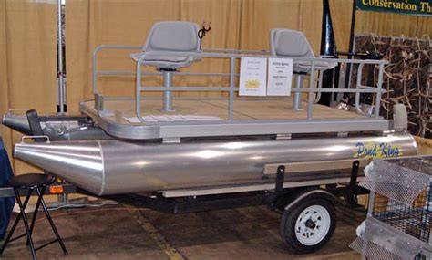 tulsa boat show pond king showed some miniature pontoon boats for use in