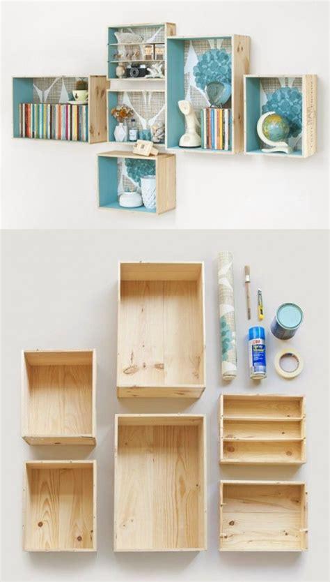 box bookshelves diy wooden box shelves kelley