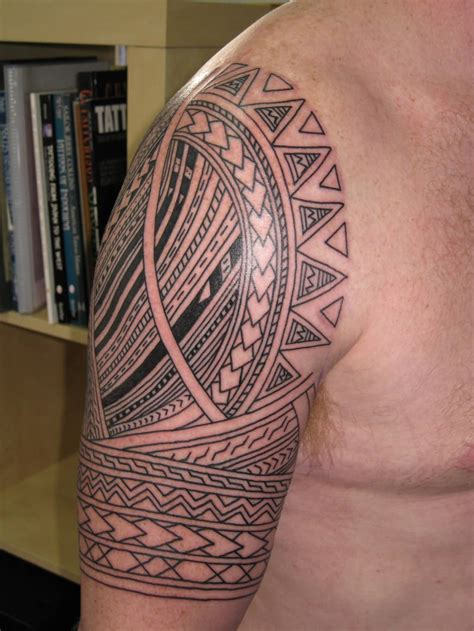 samoan tribal arm tattoos half sleeve tribal for