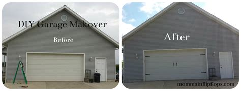 Do It Yourself Garage Makeover Momma In Flip Flops Do It Yourself Garage Door