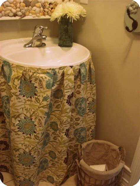 how to make a bathroom sink skirt top 10 easy diy sink skirts