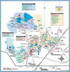 Disney World Map Of Resorts by Disney World Resorts Local Roads Map Disney World