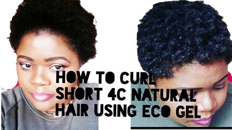 how to tame my 4c short hair how to curl 4c short natural hair using eco gel youtube
