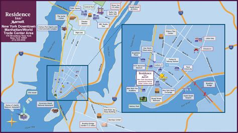 map new york city attractions world map of new york image collections diagram writing
