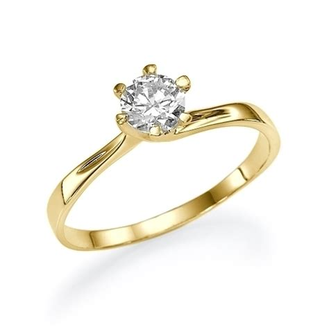 75 ct twist solitaire engagement ring 18k yellow gold