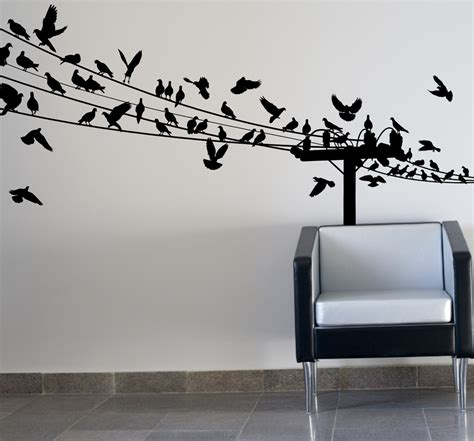 Birds on wire wall art optimize every inch of interior with natural scene homesfeed